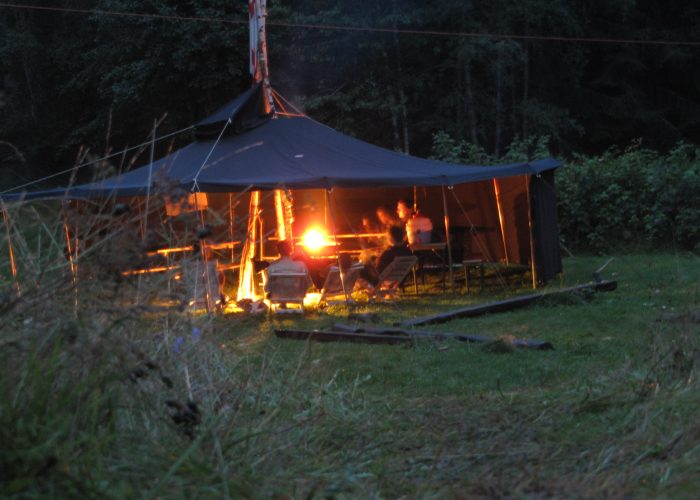 Auslandslager Schweden 2010: Abendliches Lagerfeuer