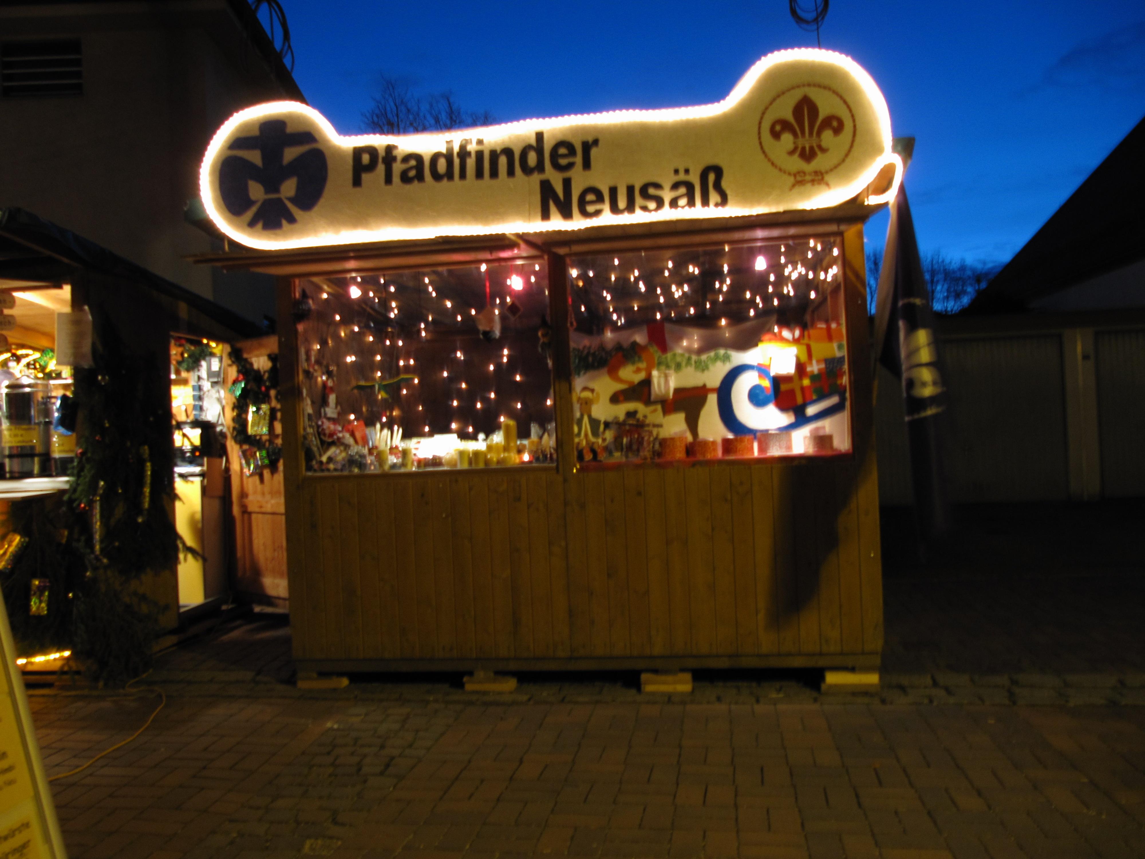 Weihnachtsmarktstand in Neusäß